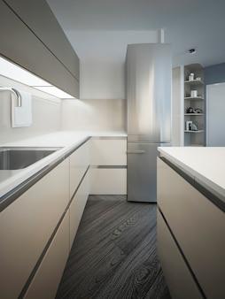 Design de estilo minimalista de cozinha
