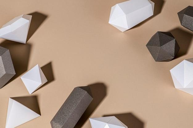Design de fundo de papel artesanal em forma de diamante 3d