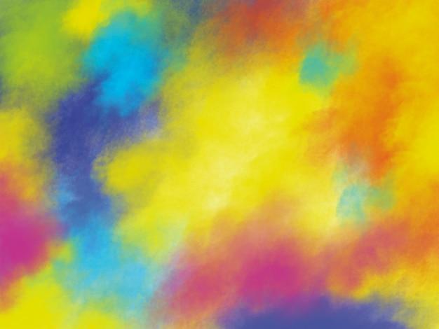 Design de fundo festival holi de pinceladas coloridas com espaço de cópia