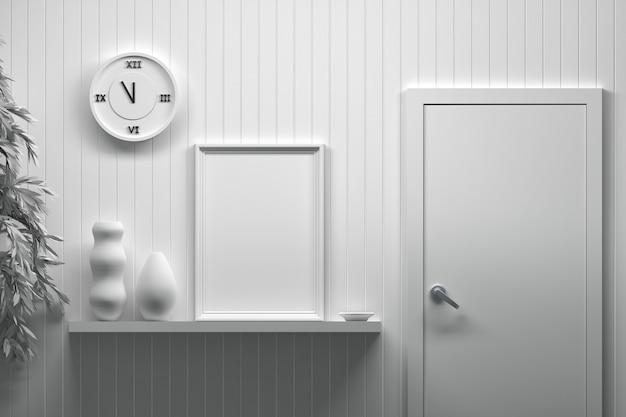 Design de interiores com moldura vazia