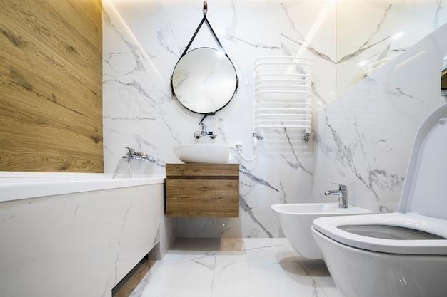 Design de interiores de banheiro moderno