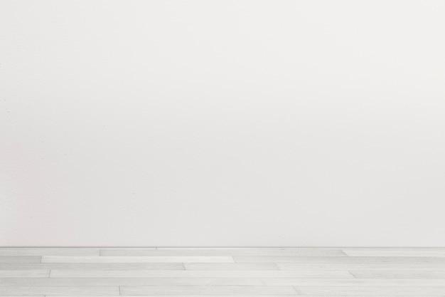Design de interiores de quarto minimalista vazio com parede cinza claro
