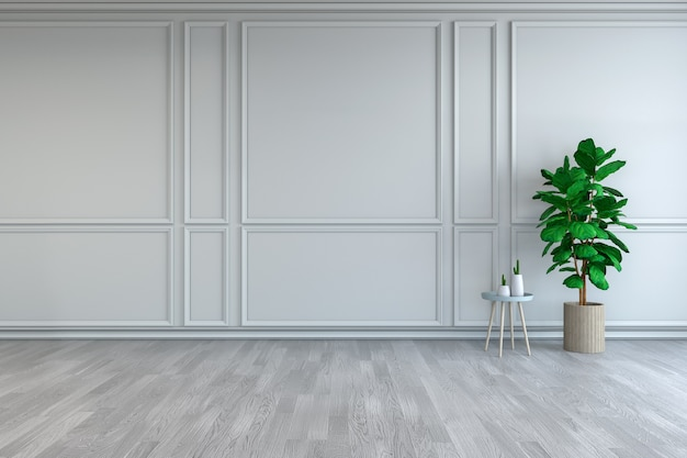 Design de interiores de quarto minimalista