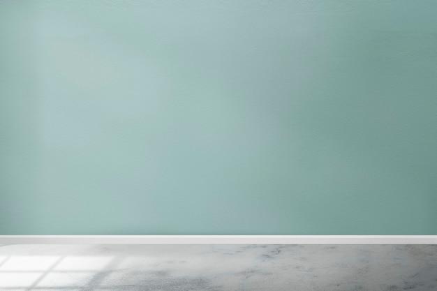 Design de interiores de quarto verde menta vazio com luz natural