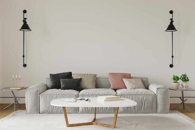 Design de interiores de sala de estar com
