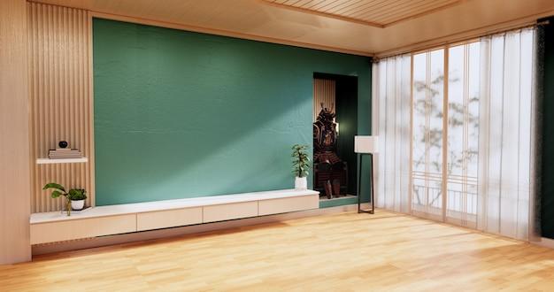 Design de interiores de sala de estar de hortelã. renderização 3d