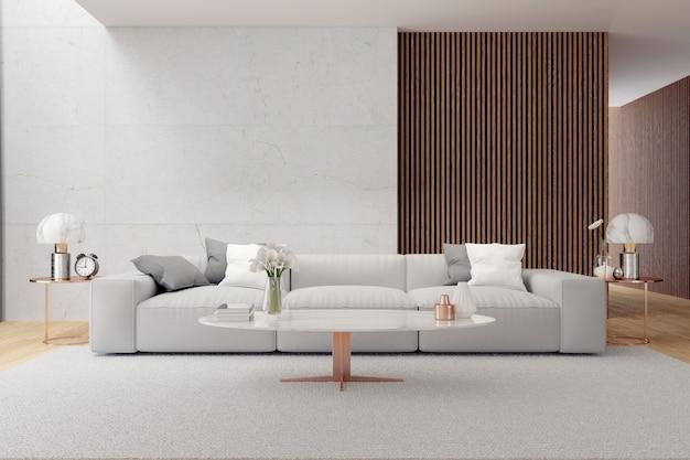 Design de interiores de sala de estar de luxo moderno