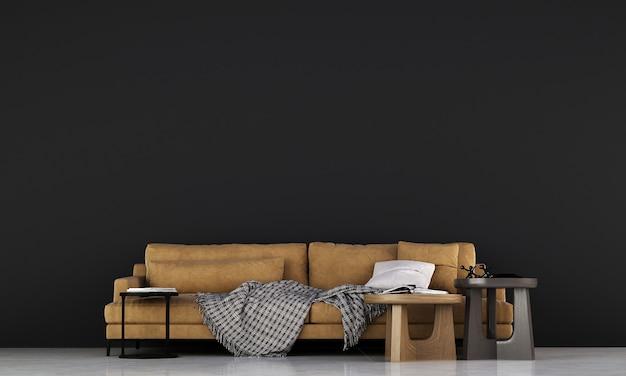 Design de interiores de sala de estar moderna