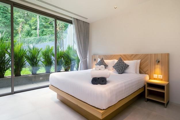 Design de interiores de um quarto de hotel