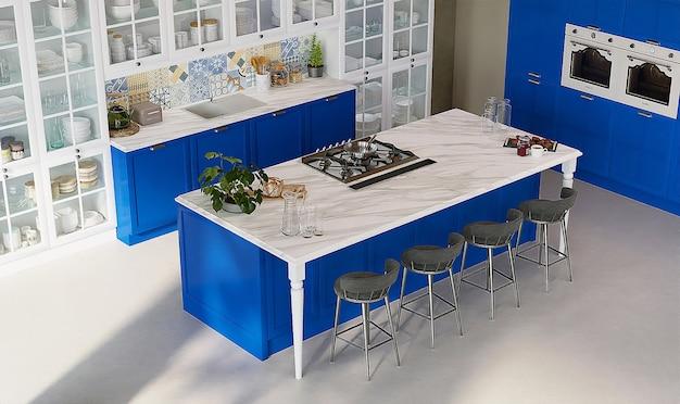 Design de interiores de uma cozinha