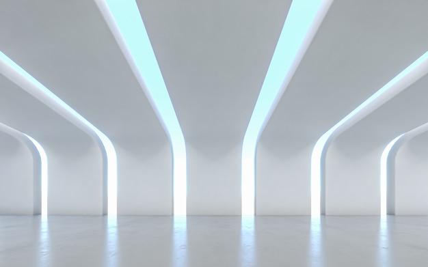 Design de interiores do corredor iluminado