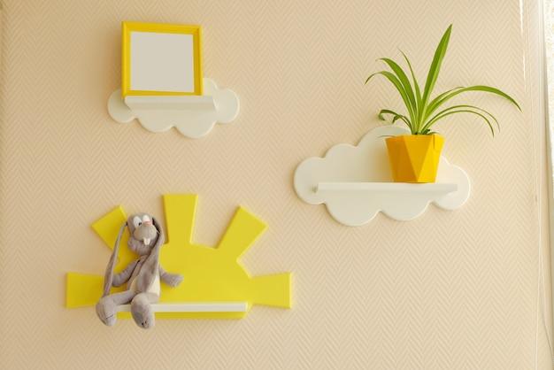 Design de interiores elegante e moderno. casa para o quarto da criança.