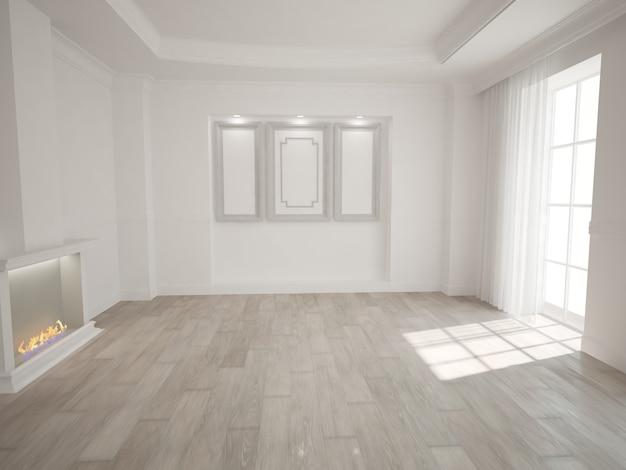 Design de interiores moderno. ilustração 3d