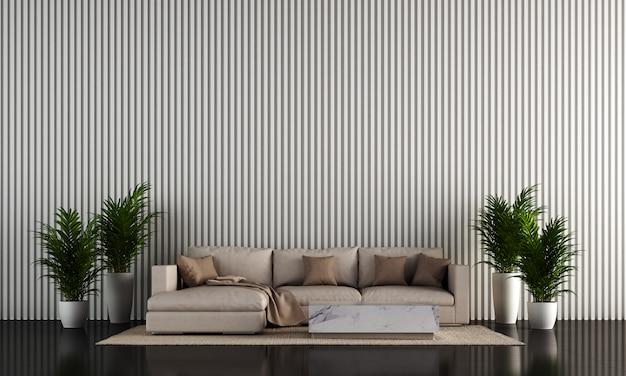 Design de interiores moderno sala de estar branco loft