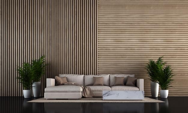 Design de interiores moderno sala de estar loft