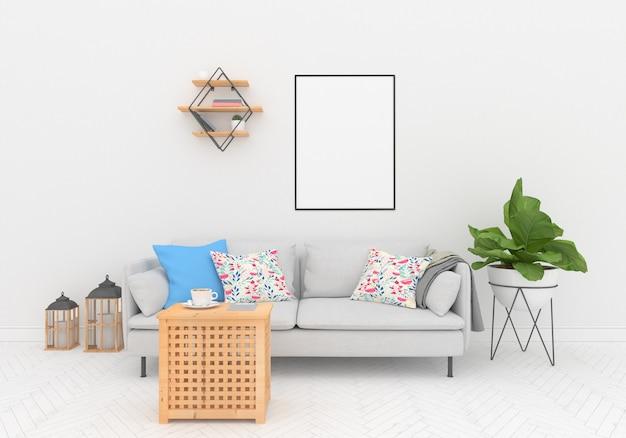 Design de interiores nórdico - quadro vertical
