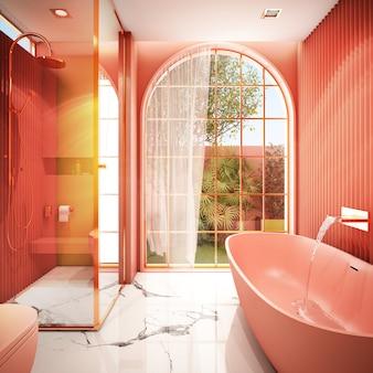 Design de interiores para área de banheiro em estilo moderno