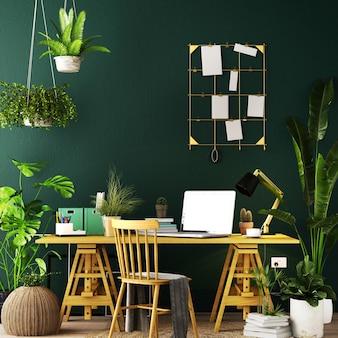 Design de interiores para área de trabalho em estilo escandinavo