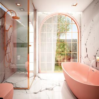 Design de interiores para banheiro em estilo moderno