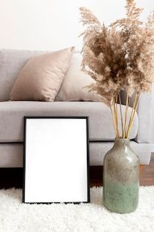 Design de interiores para casa com espaço de cópia
