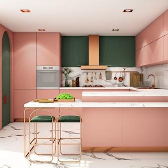 Design de interiores para cozinha em estilo moderno