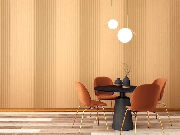 Design de interiores para sala de jantar em estilo moderno