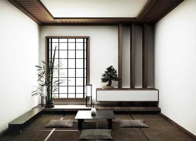 Design de interiores, sala de estar moderna com decoração de vida