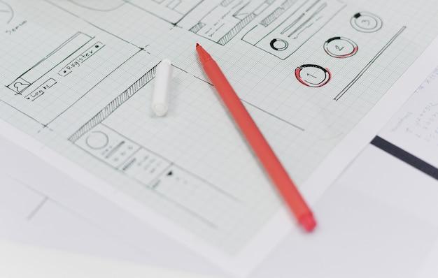 Design de layout do site