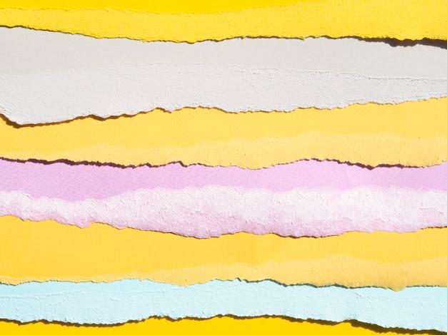 Design de linhas de papel abstratas rasgadas