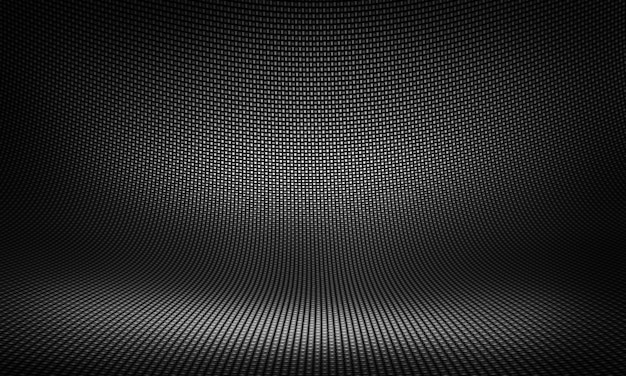 Design de material de fibra de carbono preto moderno abstrato para segundo plano,