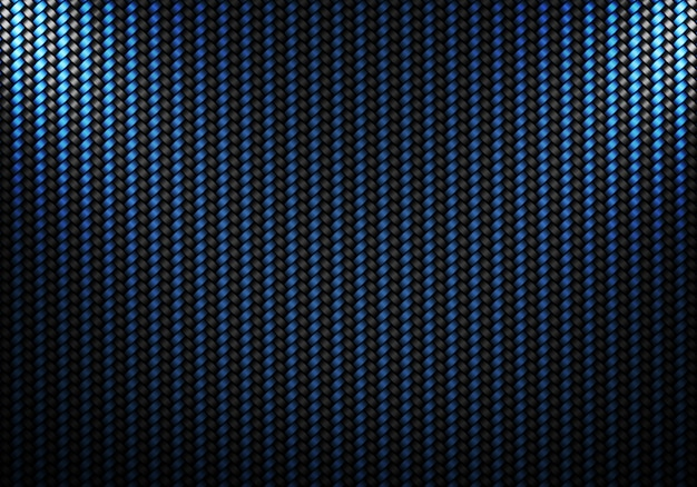 Design de material texturizado de fibra de carbono preto azul abstrato