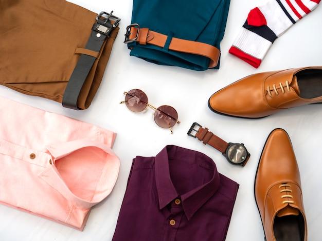 Design de moda criativa para homens conjunto de roupas casuais