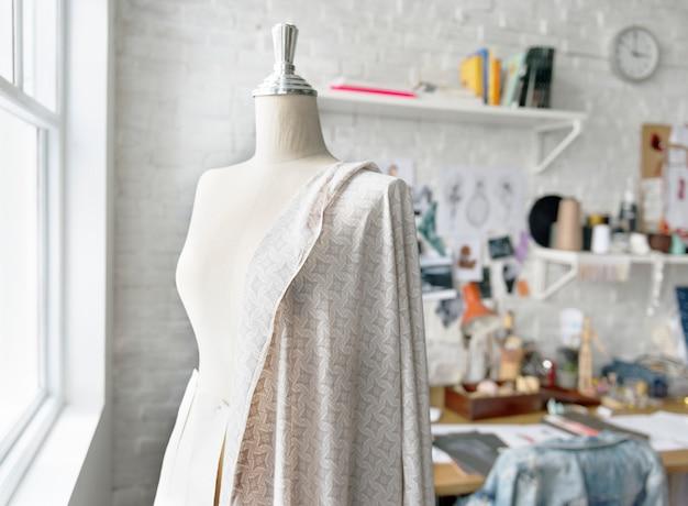 Design de moda manequim conceito de medição