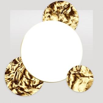 Design de modelo mínimo abstrato dourado.