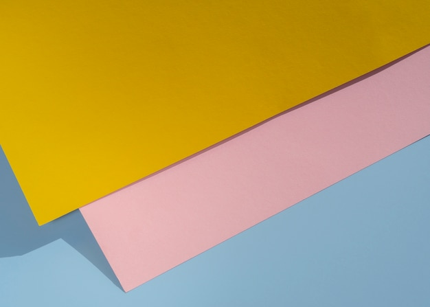 Design de papel de polígono de vista superior