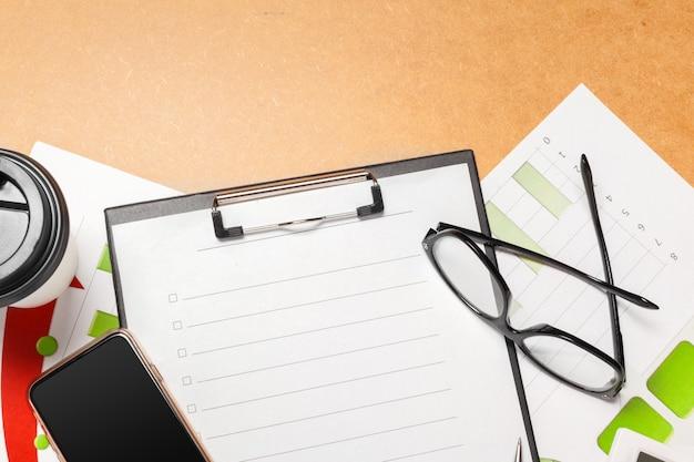 Design de papel timbrado da vista superior