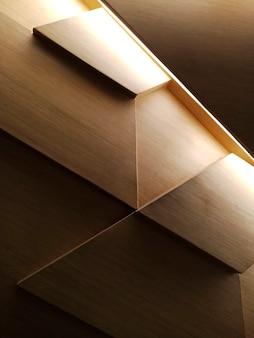 Design de parede de madeira clara