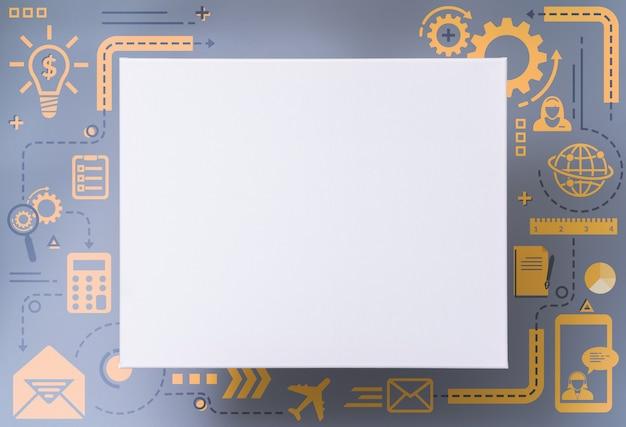 Design de placa de informações de negócios com estilo infográfico de ícone plano