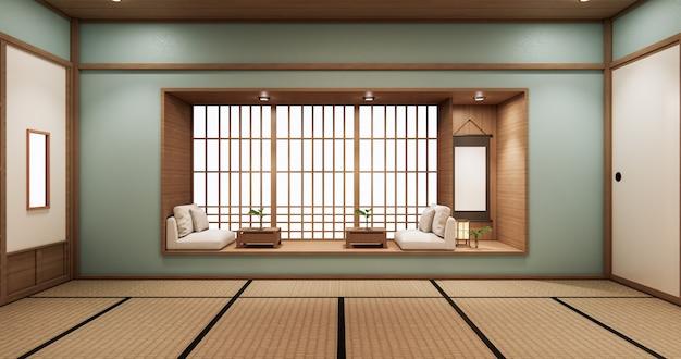Design de prateleira ciano em estilo japonês design minimalista