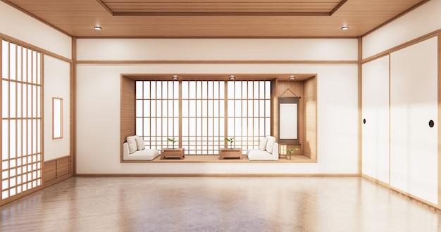 Design de prateleira viva em quarto estilo japonês design minimalista
