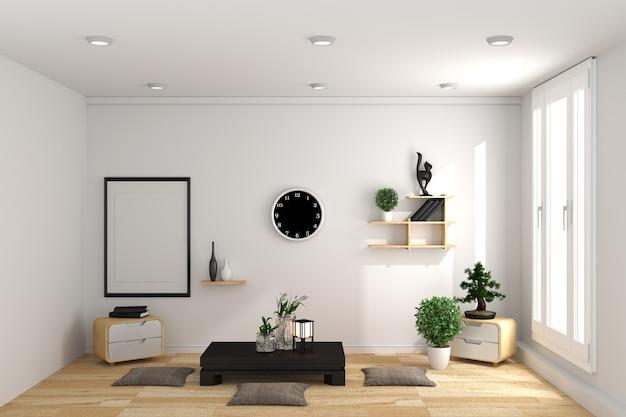 Design de quarto em estilo japonês