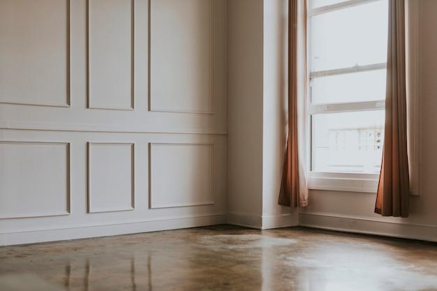 Design de quarto interior vazio mínimo