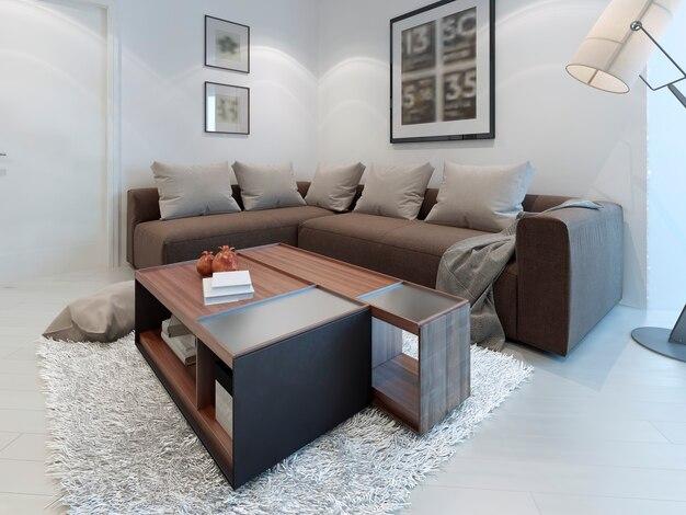 Design de sala de estar contemporânea