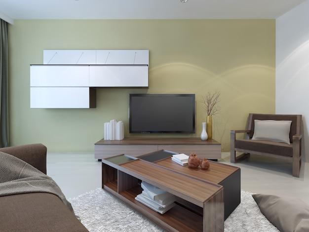Design de sala de estar espaçosa