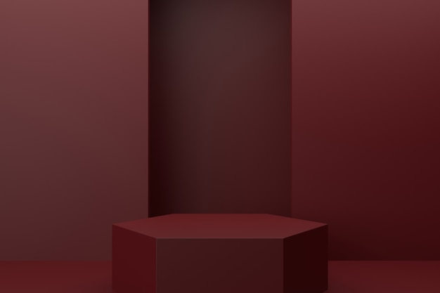 Design de suporte de exibição. renderização 3d.
