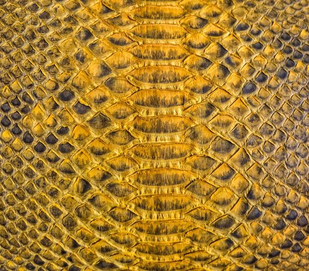 Design de textura de pele de cobra amarela