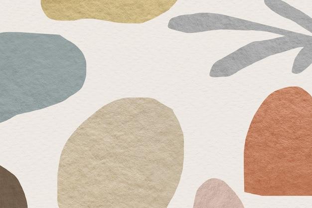 Design de tom de terra de padrão abstrato
