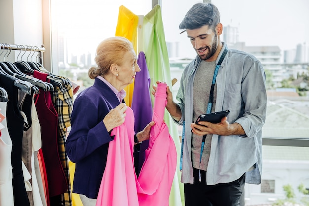 Design de vestuário criativo alfaiataria conceito de serviço