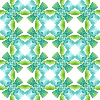 Design desenhado à mão arabesco. verde tendência boho chique design de verão. impressão poderosa pronta para têxteis, tecido para biquínis, papel de parede, embrulho. borda desenhada da mão árabe oriental.