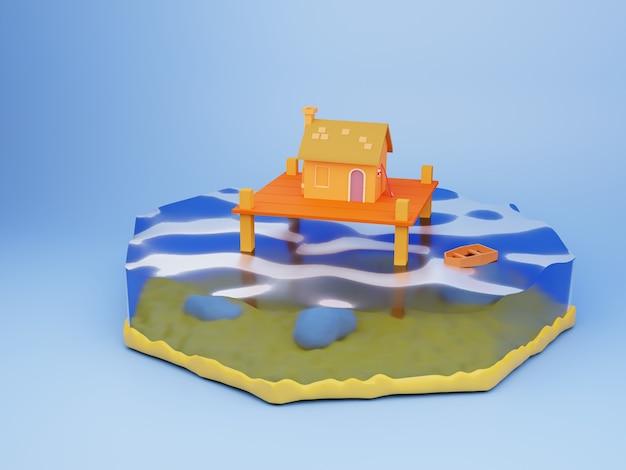 Design do fundo da ilustração 3d da edição de verão
